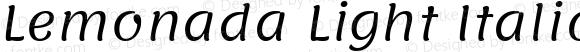 Lemonada Light Italic