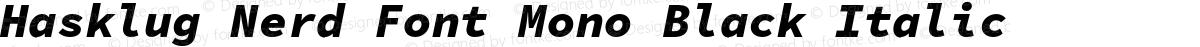 Hasklug Nerd Font Mono Black Italic