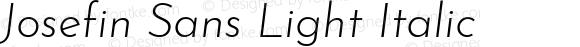 Josefin Sans Light Italic
