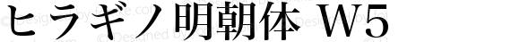 ヒラギノ明朝体 W5