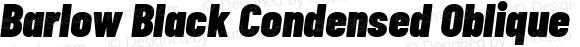 Barlow Black Condensed Oblique