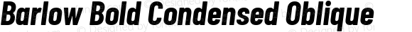 Barlow Bold Condensed Oblique