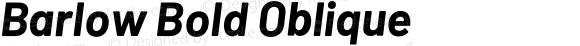 Barlow Bold Oblique