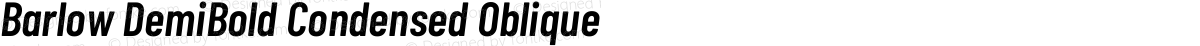 Barlow DemiBold Condensed Oblique