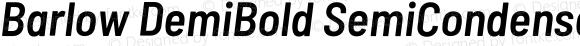 Barlow DemiBold SemiCondensed Oblique