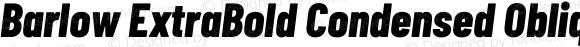 Barlow ExtraBold Condensed Oblique
