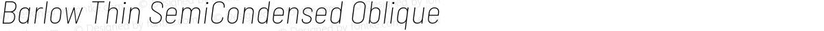 Barlow Thin SemiCondensed Oblique