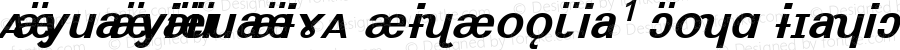 AnyuanyinquanIPA SILSophia1 Bold Italic Macromedia Fontographer 4.1 9/3/97 Compiled by TCTT.DLL 2.0 - the SIL Encore Font Compiler 10/13/02 18:04:32