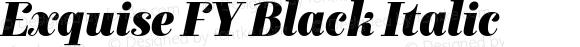 Exquise FY Black Italic