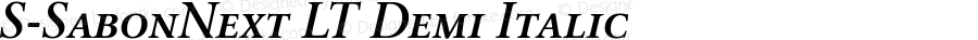 S-SabonNext LT Demi Italic 001.000