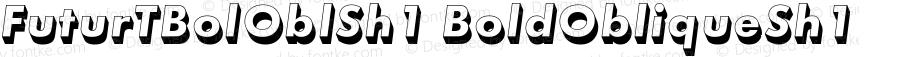 FuturTBolOblSh1 BoldObliqueSh1 Version 001.002