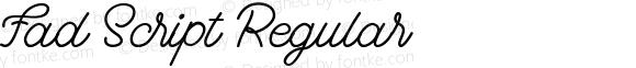 Fad Script Regular