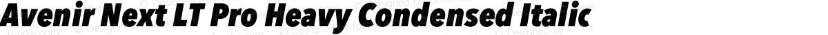 Avenir Next LT Pro Heavy Condensed Italic