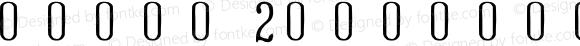 号码章字体2 Regular