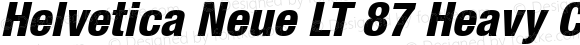 Helvetica Neue LT 87 Heavy Condensed Oblique