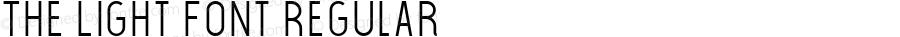 The Light Font Regular