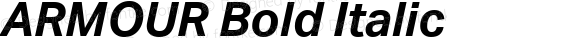 ARMOUR Bold Italic Version 1.000