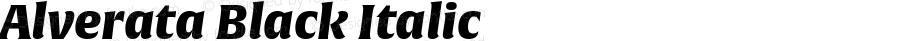 Alverata Black Italic Version 1.001