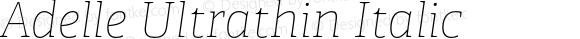 Adelle Ultrathin Italic