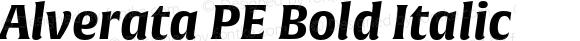 Alverata PE Bold Italic Version 1.001