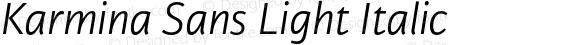 Karmina Sans Light Italic