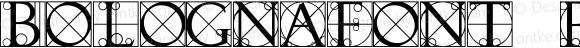BOLOGNAfont Regular Altsys Fontographer 3.5  3/30/01