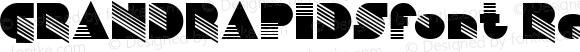 GRANDRAPIDSfont Regular Altsys Fontographer 3.5  4/3/01