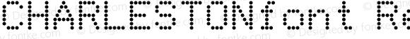 CHARLESTONfont Regular Altsys Fontographer 3.5  4/3/01