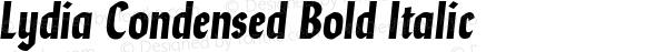 Lydia Condensed Bold Italic Version 1.000; ttfautohint (v1.5)