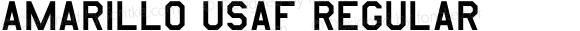 Amarillo USAF Regular Altsys Fontographer 4.0.2 10/16/94
