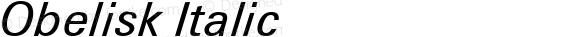Obelisk Italic