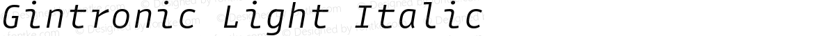 Gintronic Light Italic