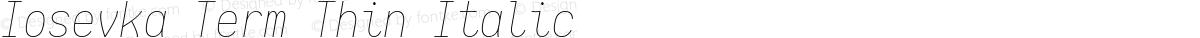 Iosevka Term Thin Italic
