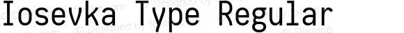 Iosevka Type Regular 1.13.3; ttfautohint (v1.6)