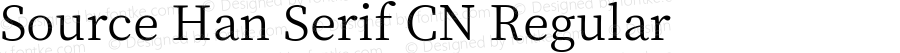 Source Han Serif CN Regular Version 1.000