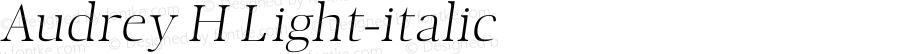 Audrey H Light-italic 1.1