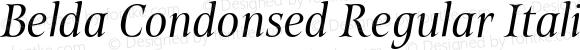 Belda Condonsed Regular Italic