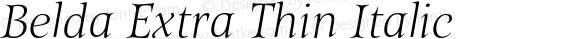 Belda Extra Thin Italic