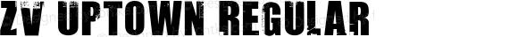 ZV Uptown Regular Macromedia Fontographer 4.1 8/2/98