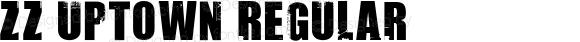 ZZ Uptown Regular Macromedia Fontographer 4.1 8/2/98