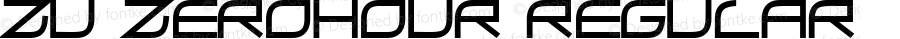 ZU ZeroHour Regular Macromedia Fontographer 4.1 10/12/97