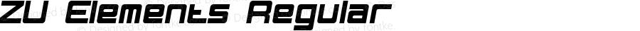 ZU Elements Regular Version 1.0