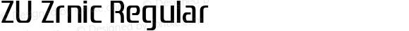 ZU Zrnic Regular Version 1.11