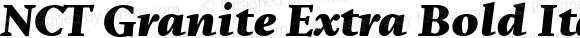 NCT Granite Extra Bold Italic