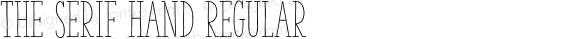 The Serif Hand Regular 2.000