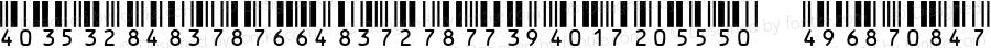 IDAutomationHI25XS Regular Version 3.07 2003
