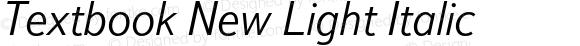 Textbook New Light Italic