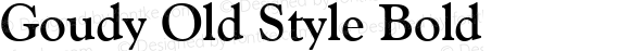 Goudy Old Style Bold