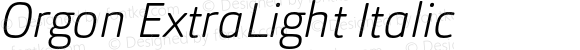 Orgon ExtraLight Italic