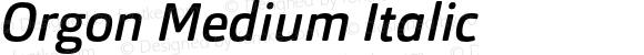 Orgon Medium Italic
